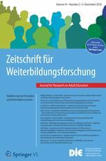 Zeitschrift für Weiterbildungsforschung