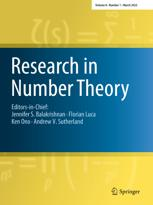 Research in Number Theory