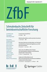 Schmalenbachs Zeitschrift für betriebswirtschaftliche Forschung 3/2017