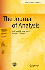 The Journal of Analysis