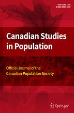 Canadian Studies in Population