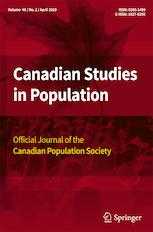 Canadian Studies in Population