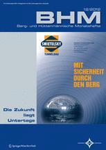 BHM Berg- und Hüttenmännische Monatshefte