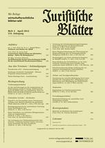 Juristische Blätter