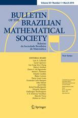Boletim da Sociedade Brasileira de Matemática - Bulletin/Brazilian Mathematical Society