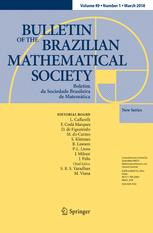 Bulletin of the Brazilian Mathematical Society, New Series
