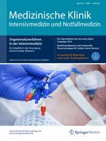 Medizinische Klinik - Intensivmedizin und Notfallmedizin 5/2017