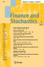 Finance and Stochastics 3/2017