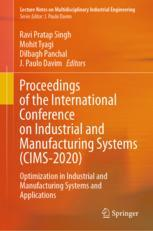 Proceedings of the International Conference on Industrial and Manufacturing Systems (CIMS-2020)