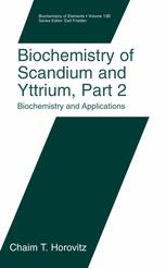 Biochemistry of the Elements
